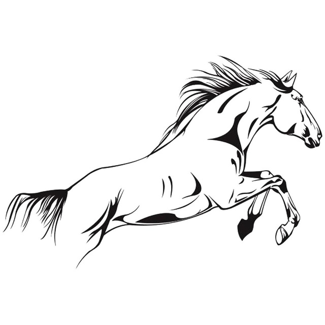 Horse Coloring Pages Jumping