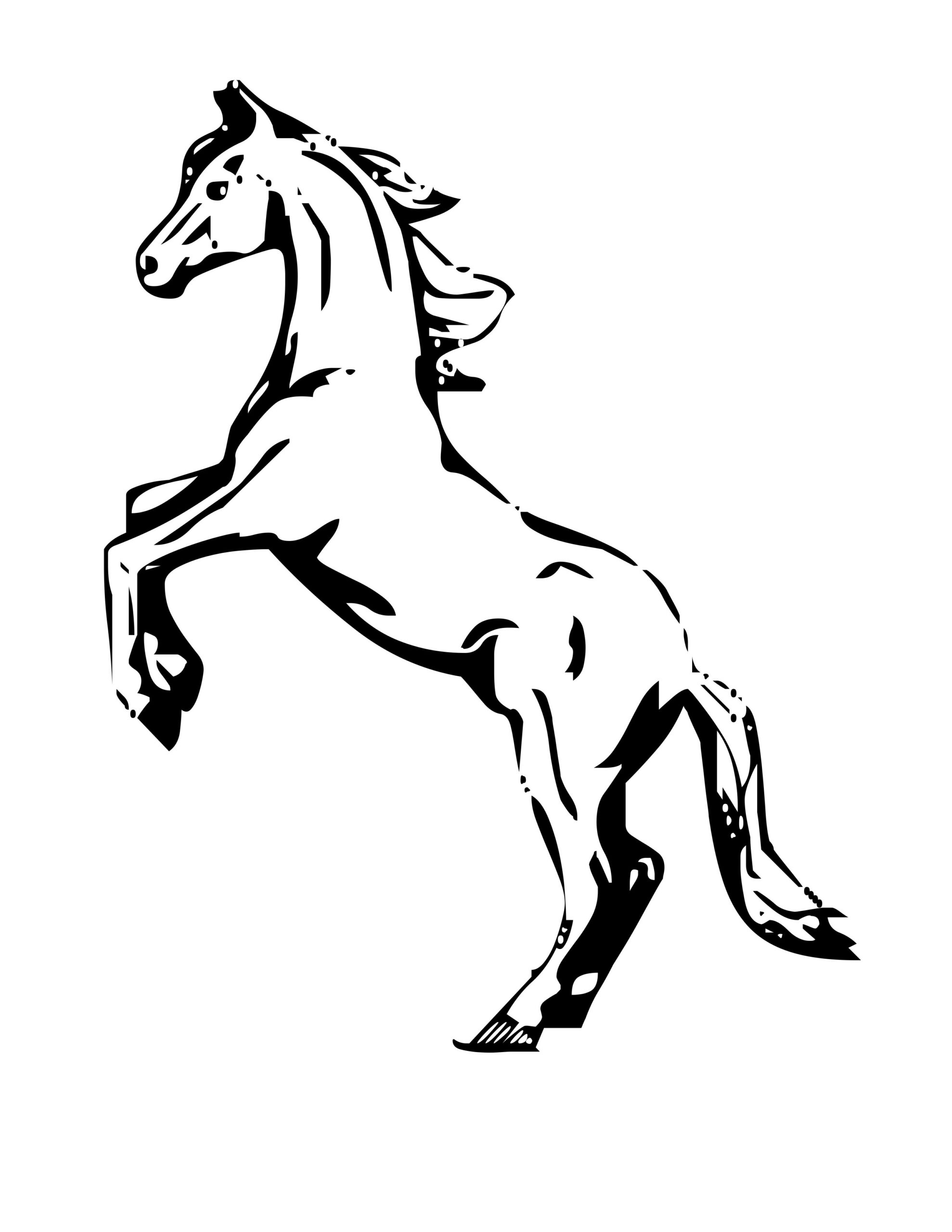 Horse Coloring Pages Realistic