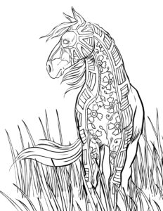 Horse Coloring Pages That Look Real