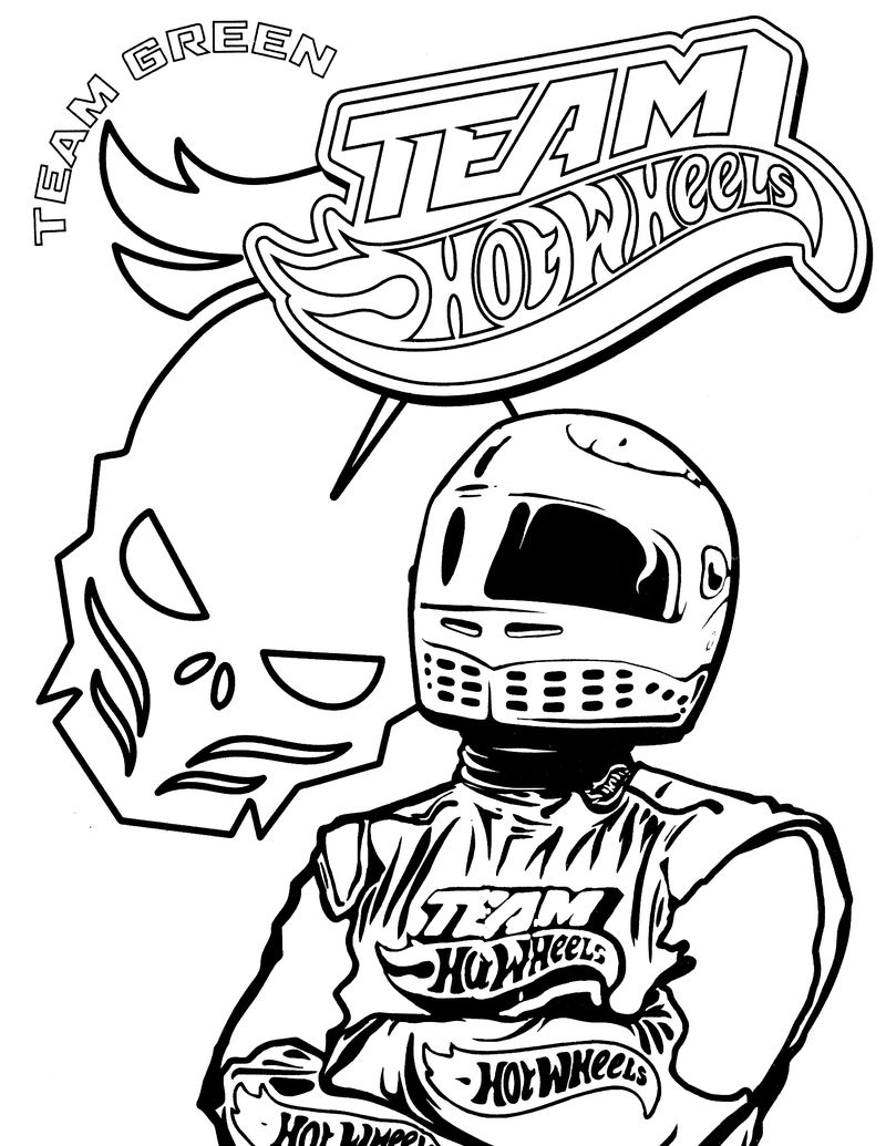 Hot Wheels Coloring Book Pages