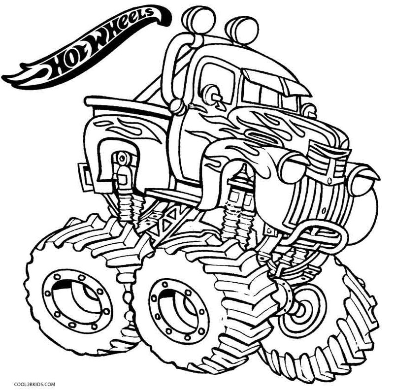 Hot Wheels Coloring Pages Easy