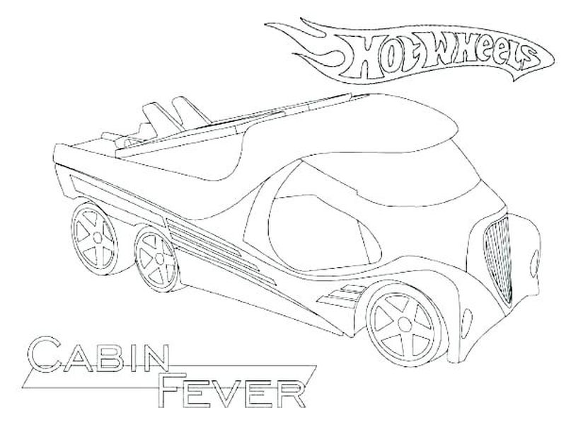 Hot Wheels Coloring Pages For Free