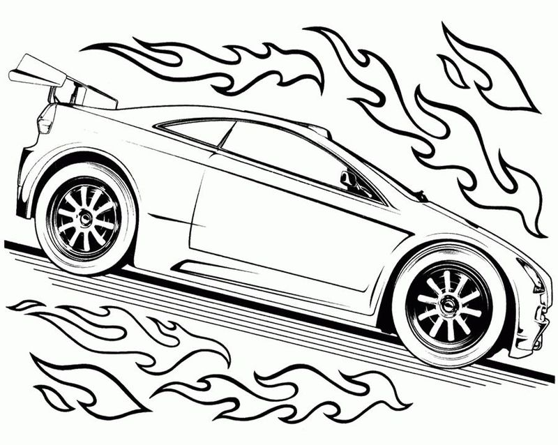 Hot Wheels Printables Coloring Pages