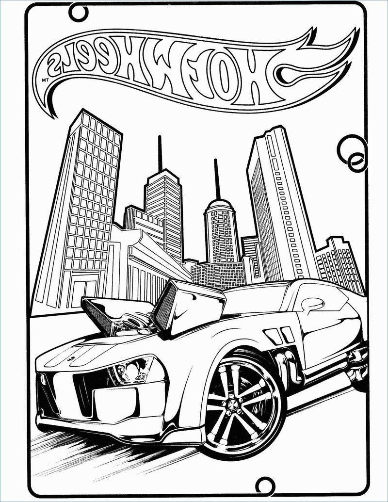 Hot Wheels Shark Coloring Pages
