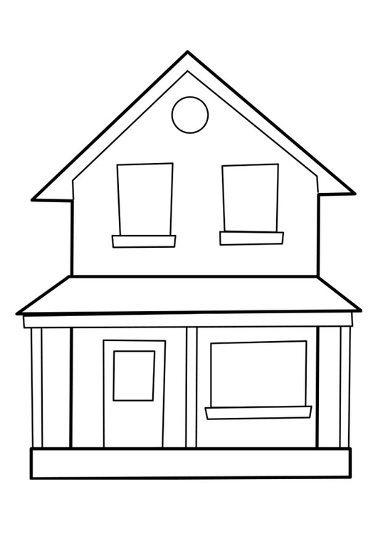 House And Family Coloring Pages