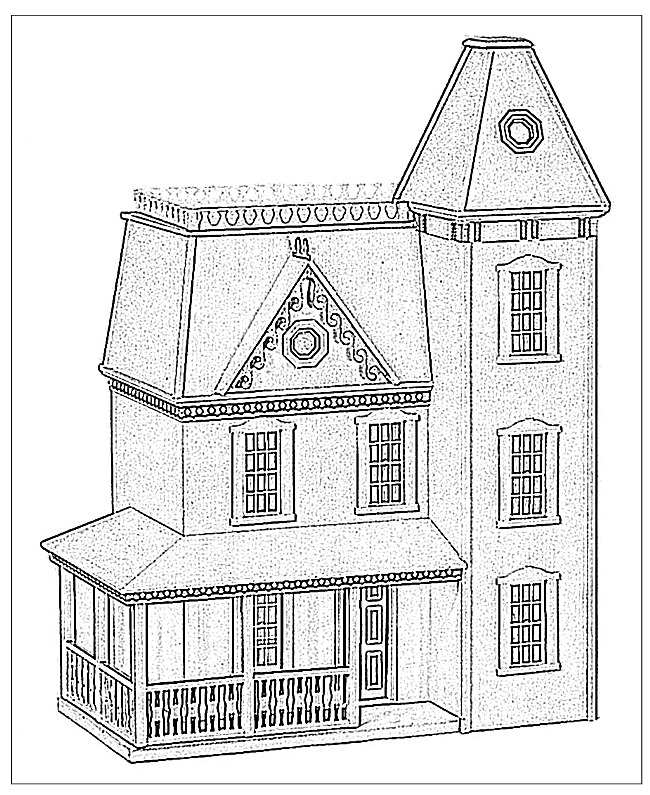 House And Tree Coloring Pages