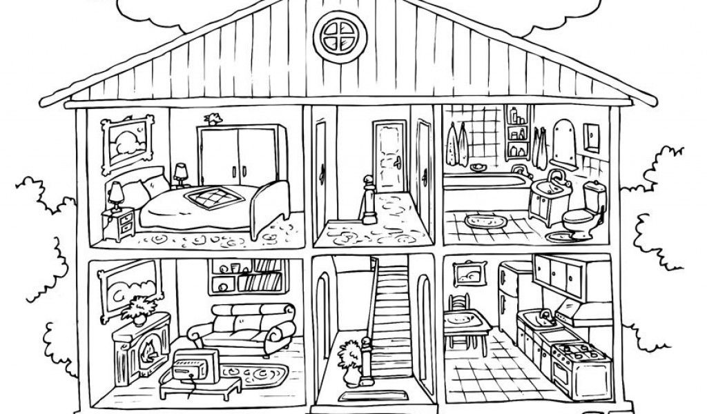 House Coloring Pages Online