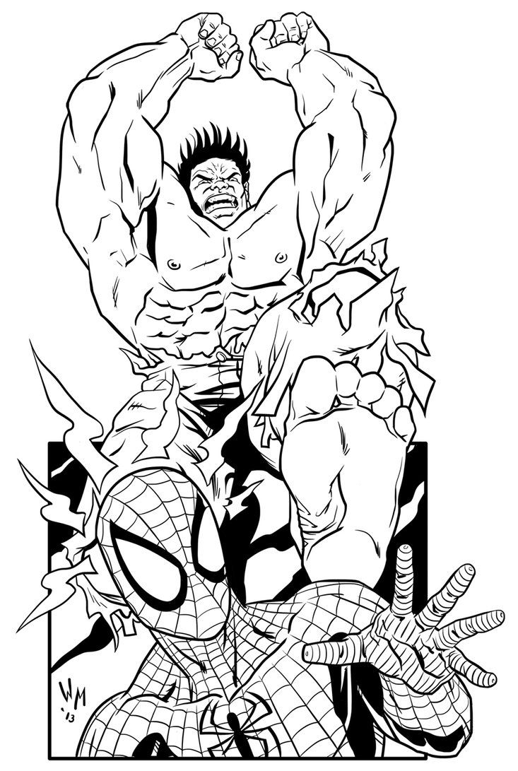 Hulk Coloring Pages For Toddlers