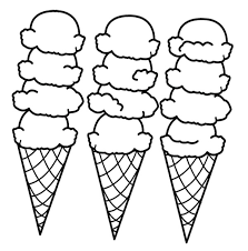 Ice Cream And Popsicle Coloring Pages