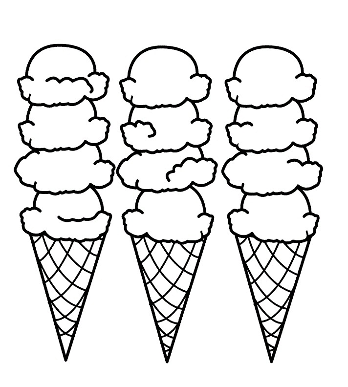 Ice Cream Cake Coloring Pages