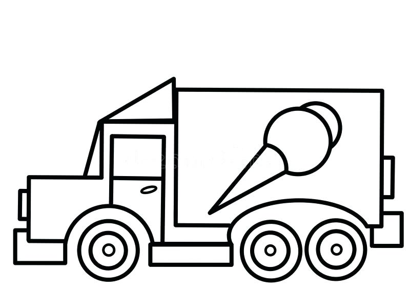 Ice Cream Car Coloring Pages