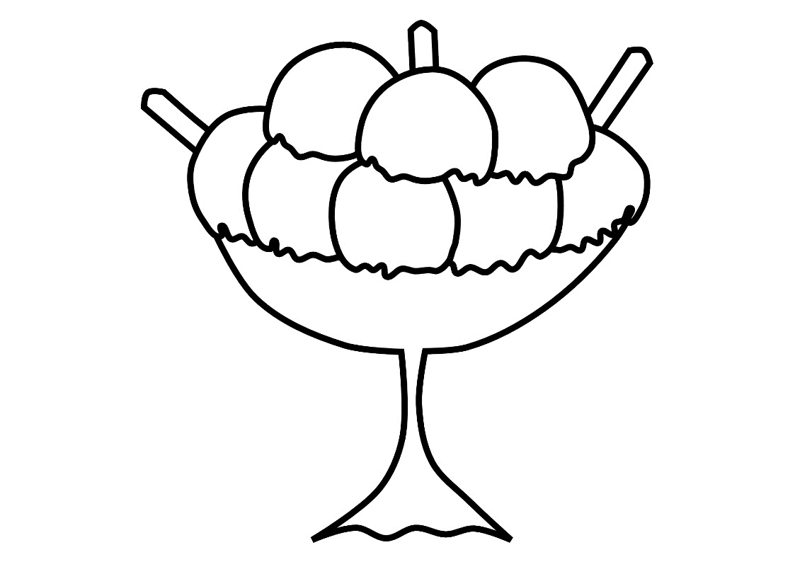 Ice Cream Coloring Book Pages