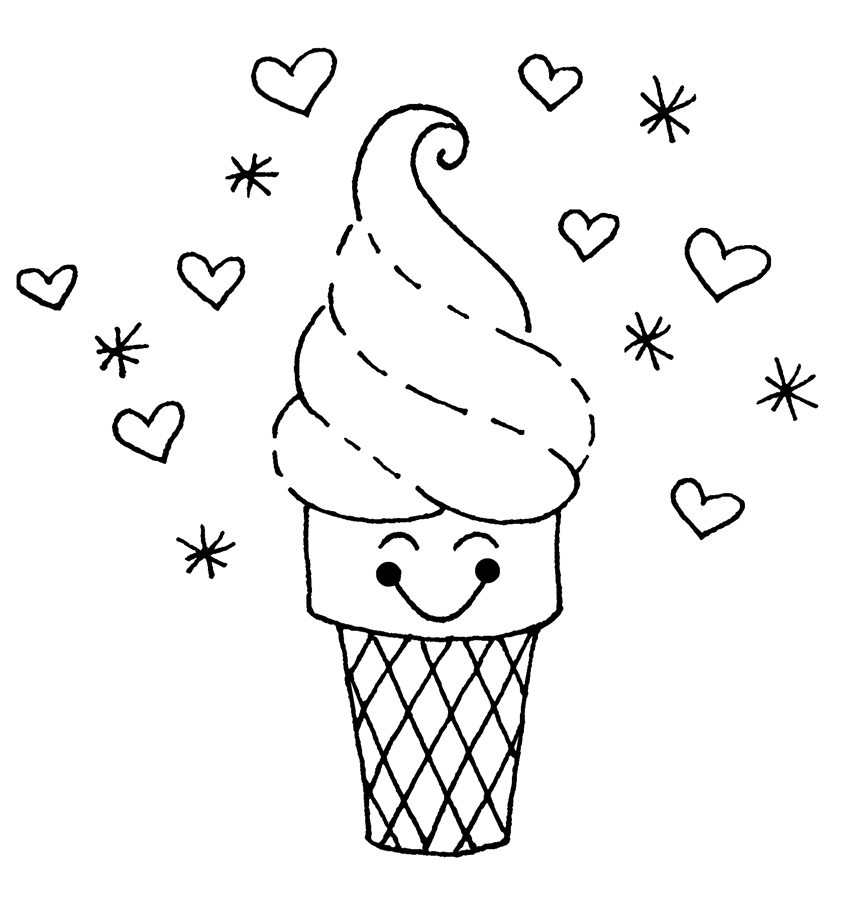 Ice Cream Coloring Pages Free