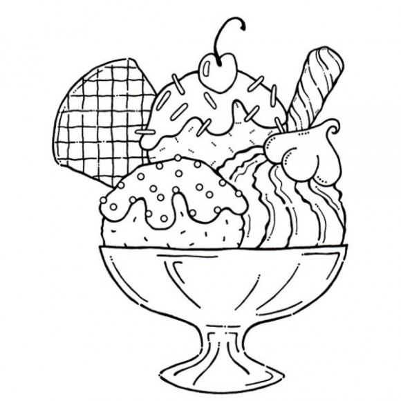 Ice Cream Coloring Pages Printable