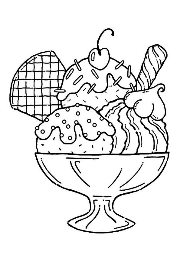 Ice Cream Coloring Pages To Print Free