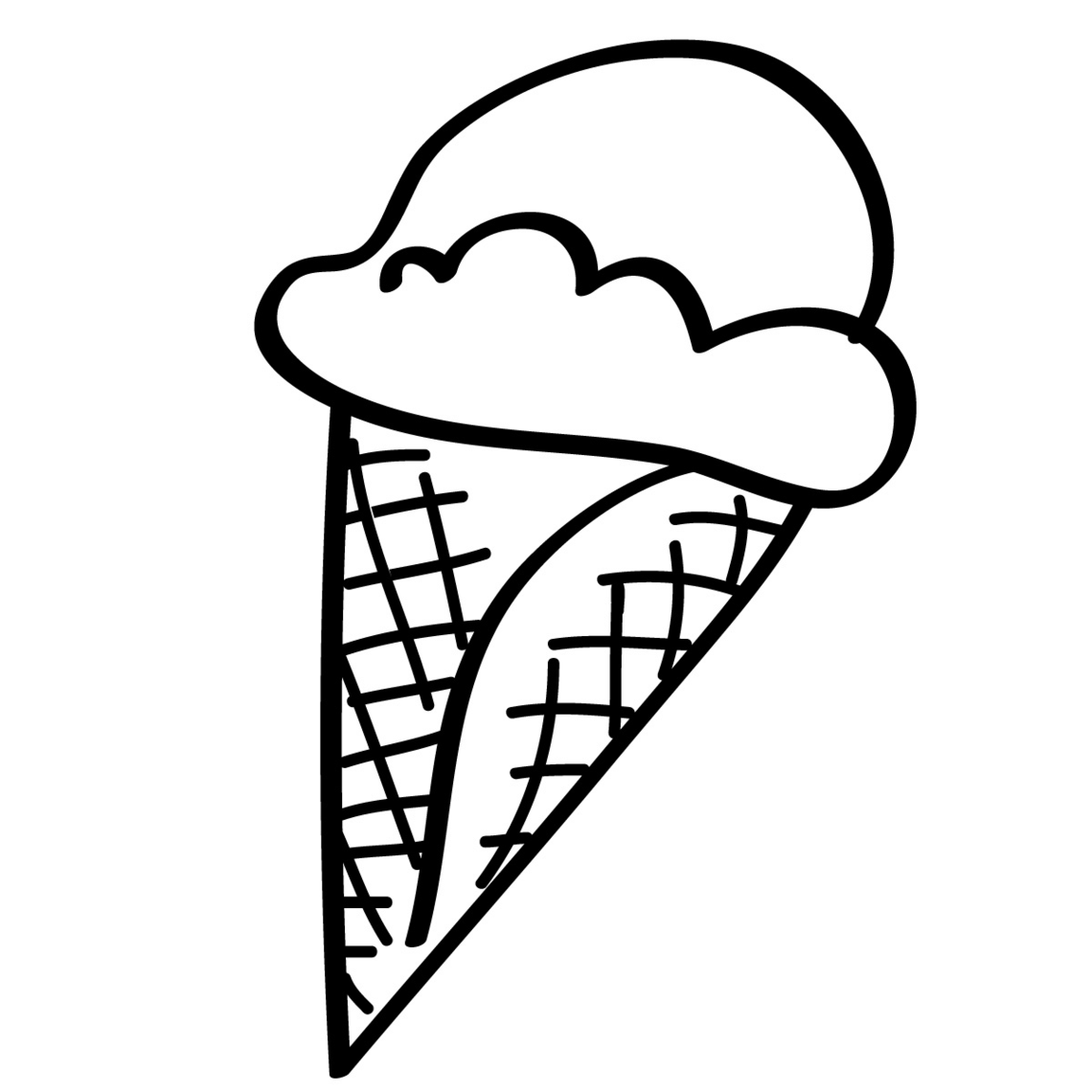 Ice Cream Cone Coloring Pages To Print