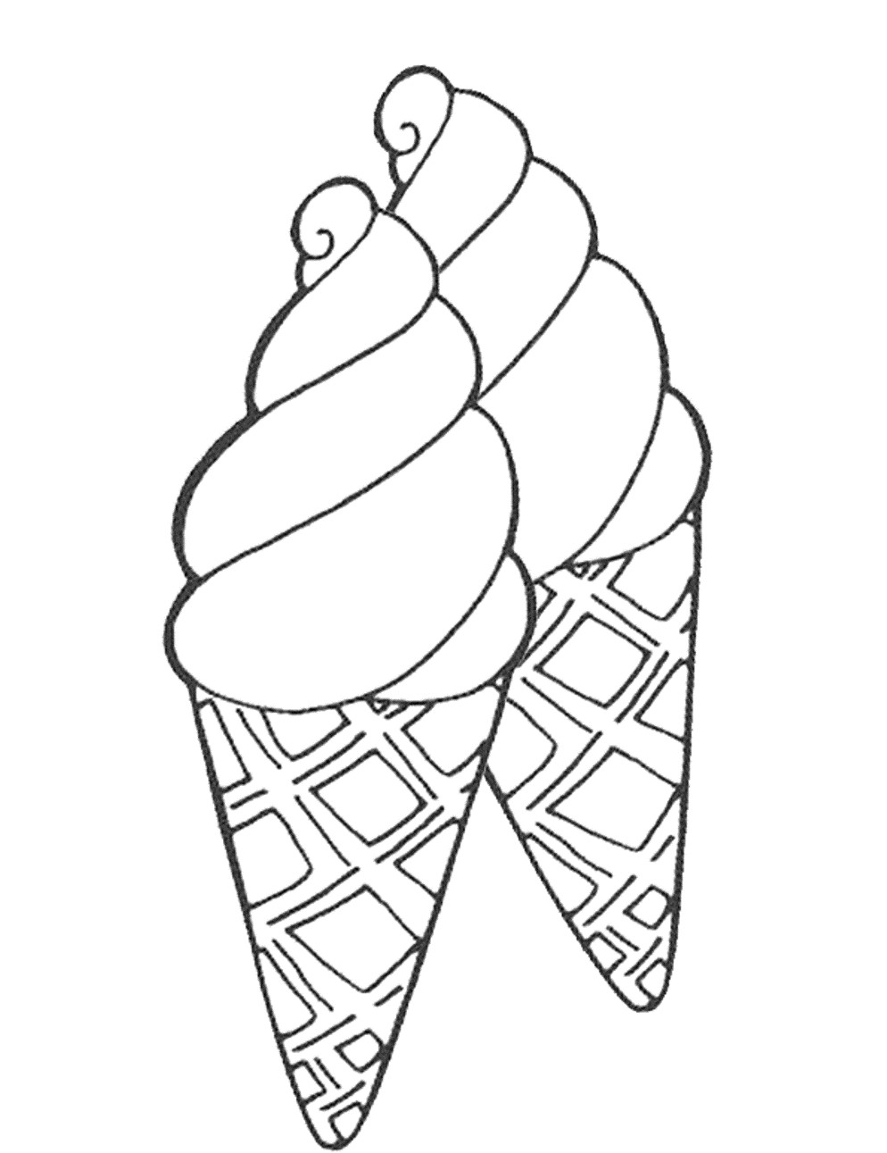 Ice Cream In A Cup Coloring Pages