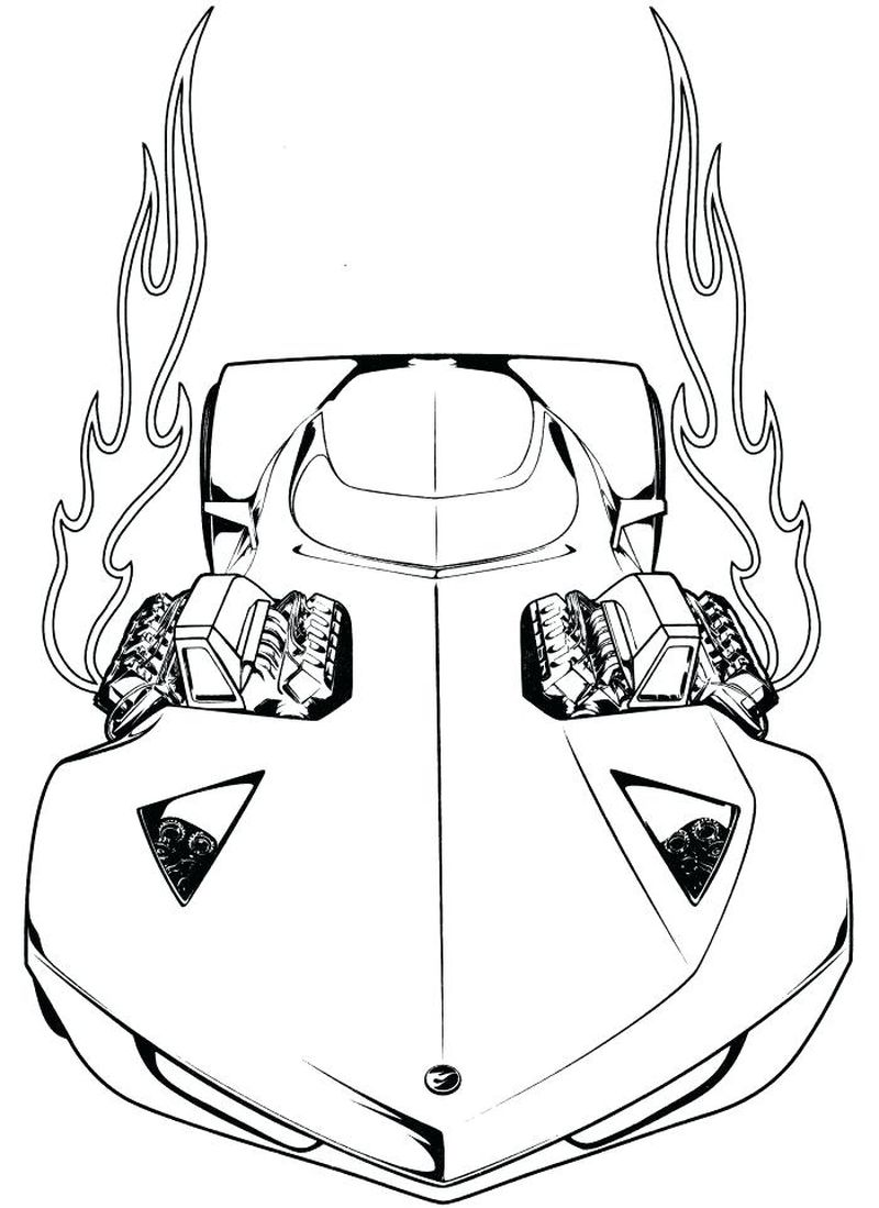 Image Hot Wheels Coloring Pages