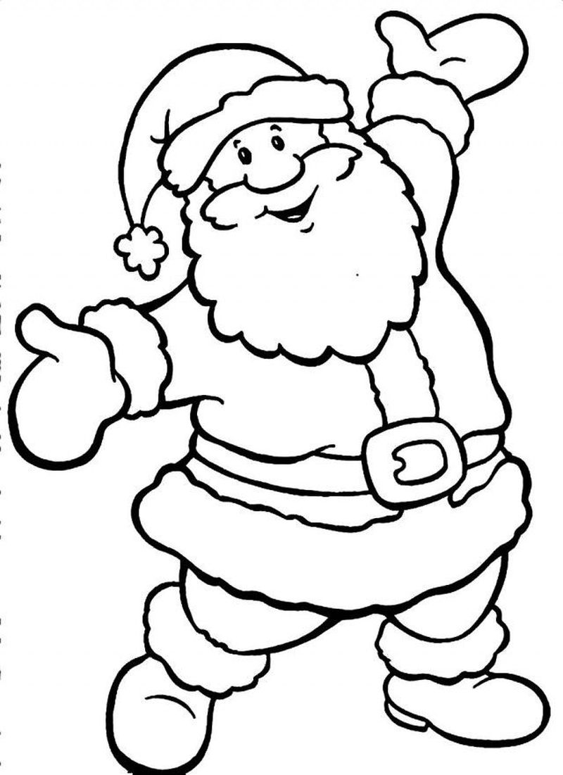 Images Of Santa Claus Coloring Page