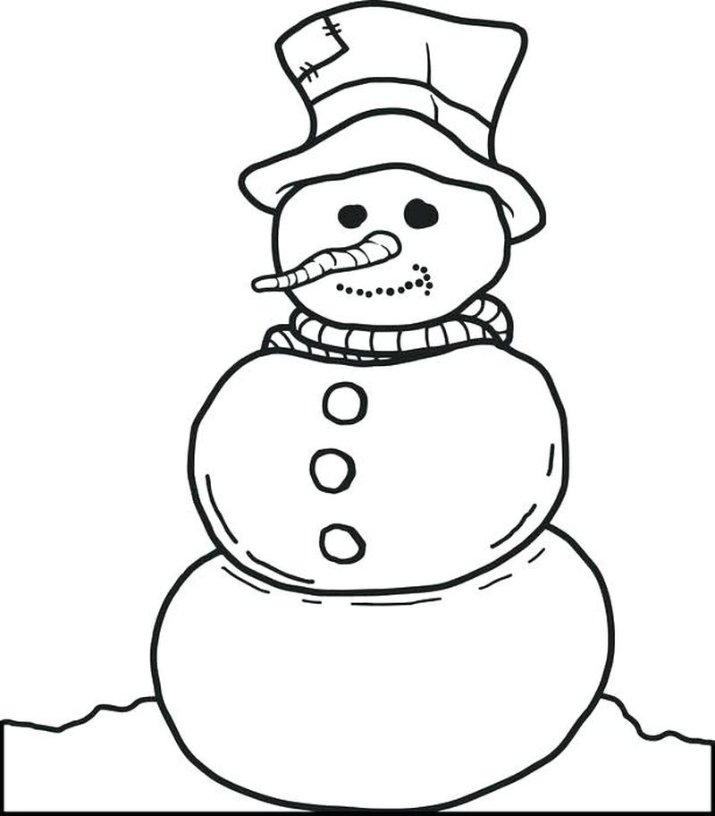 Images Of Snowman Coloring Pages