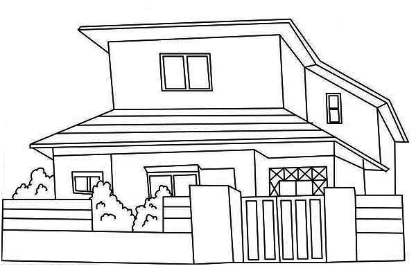 Inside A House Coloring Pages