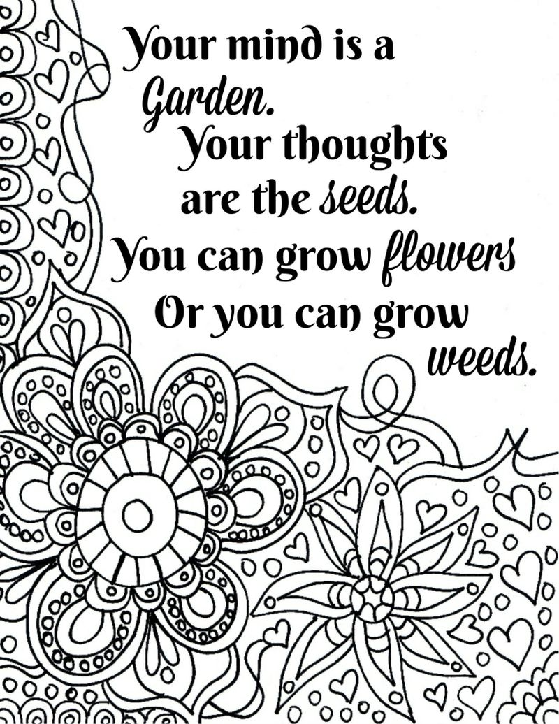 Inspirational Quote Coloring Pages