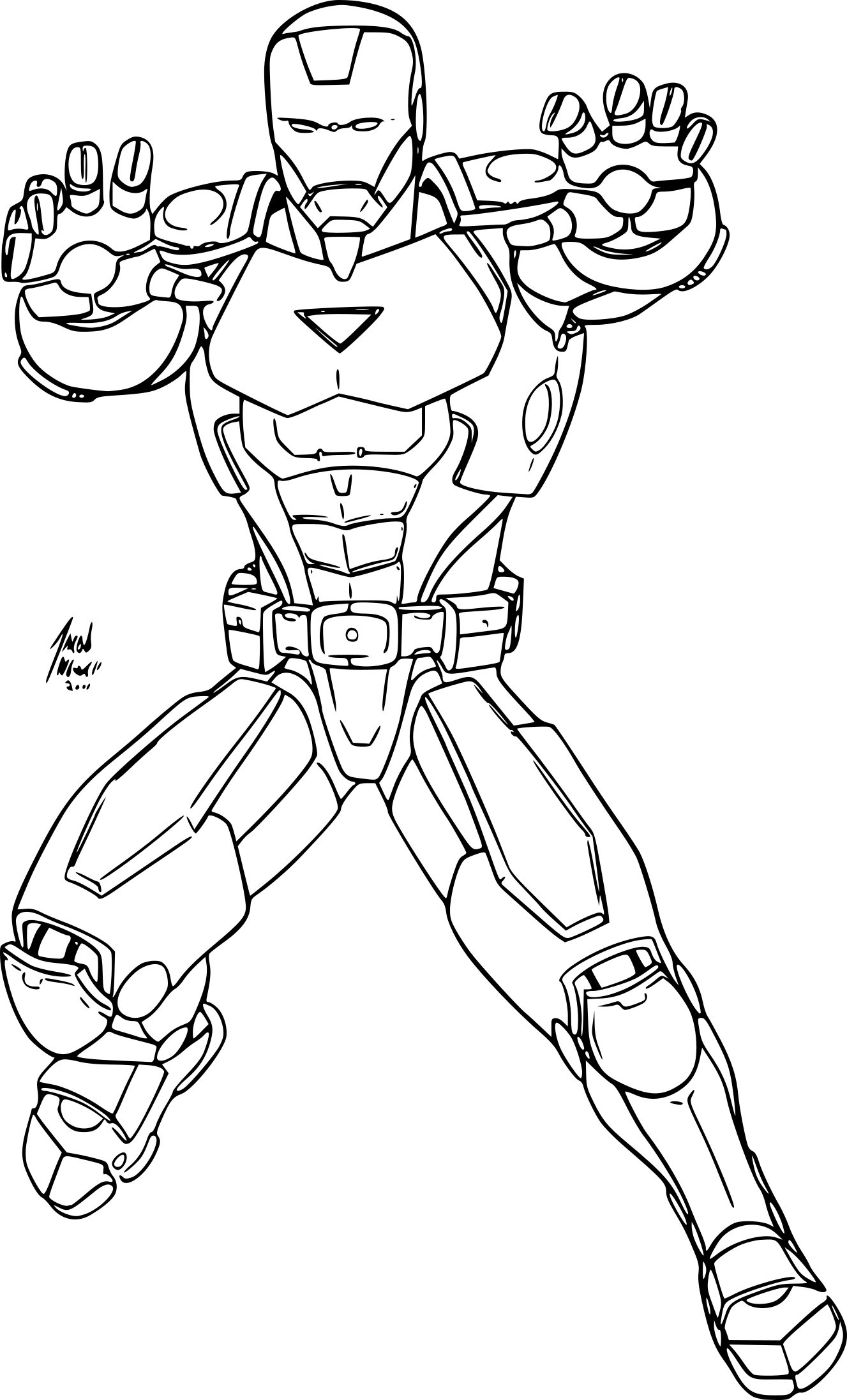 Iron Man And Hulk Coloring Pages