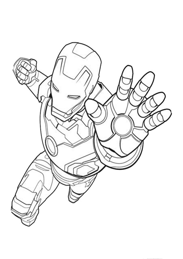 Iron Man And Spiderman Coloring Pages