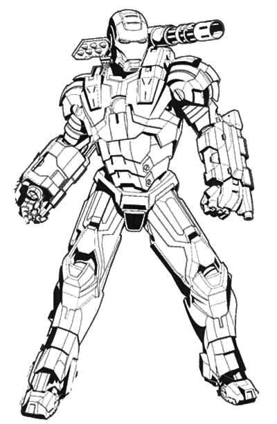 Iron Man Coloring Pages Colored