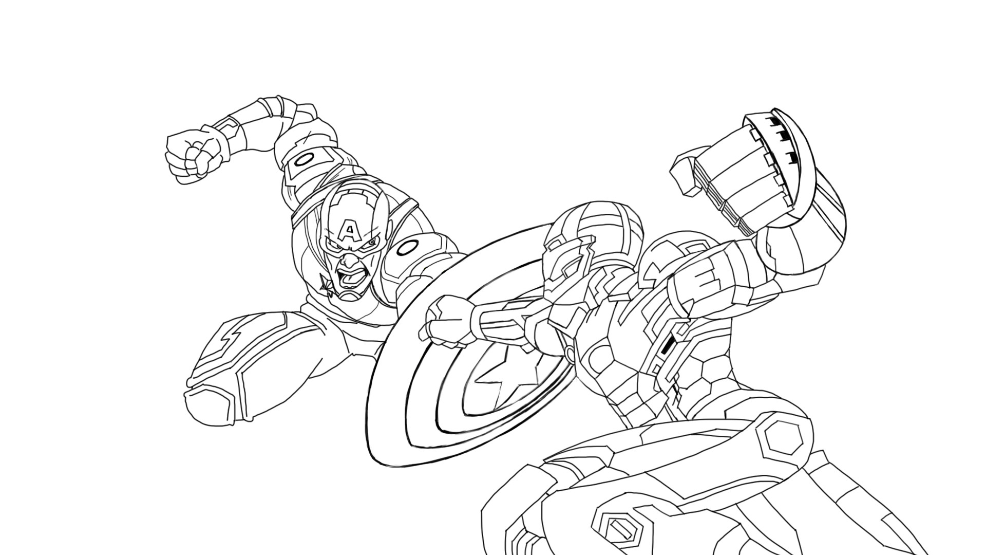 Iron Man Coloring Pages Easy
