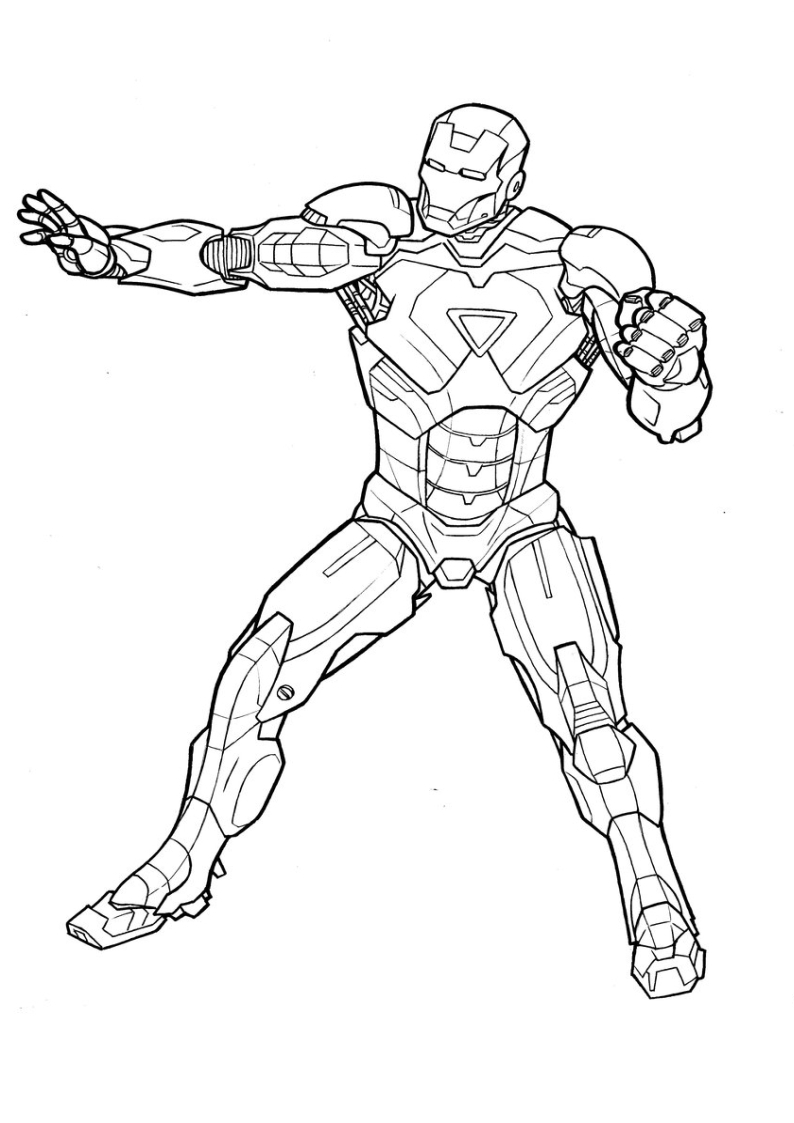 Iron Man Coloring Pages For Toddlers
