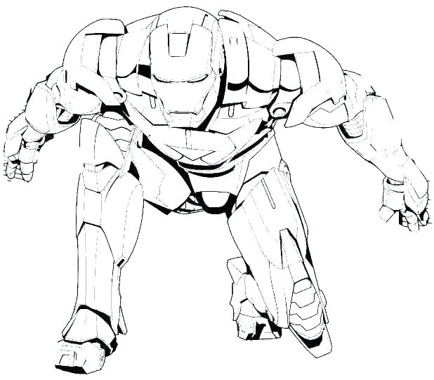 Iron Man Coloring Pages Free Printable