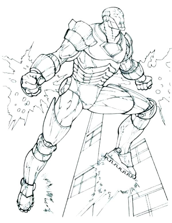 Iron Man Coloring Pages Pdf