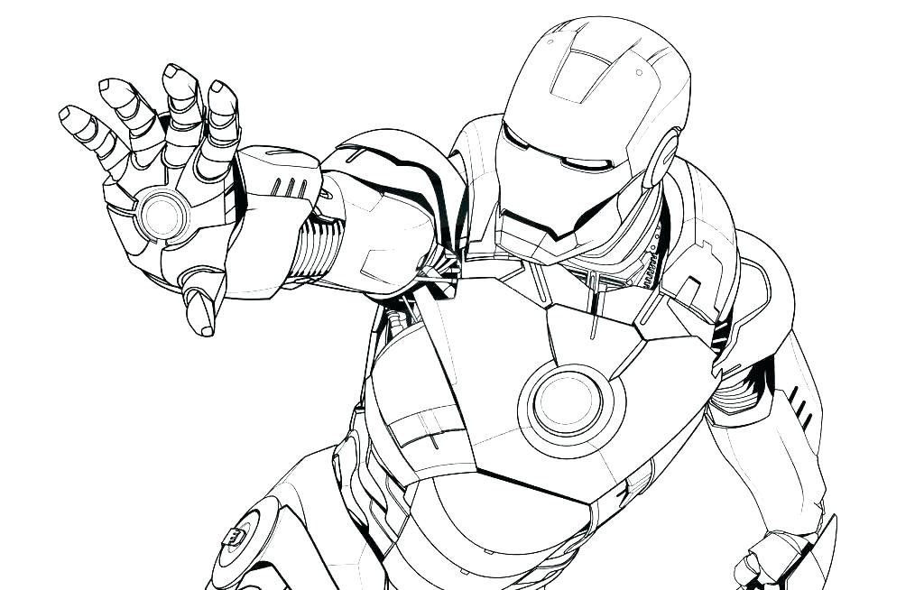 Iron Man Coloring Pages Preschool