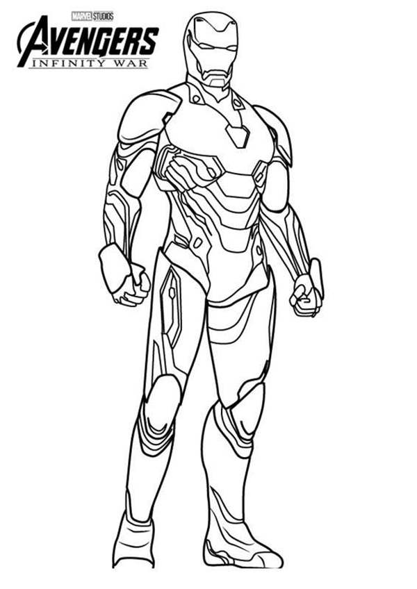 Iron Man Mark 50 Coloring Pages