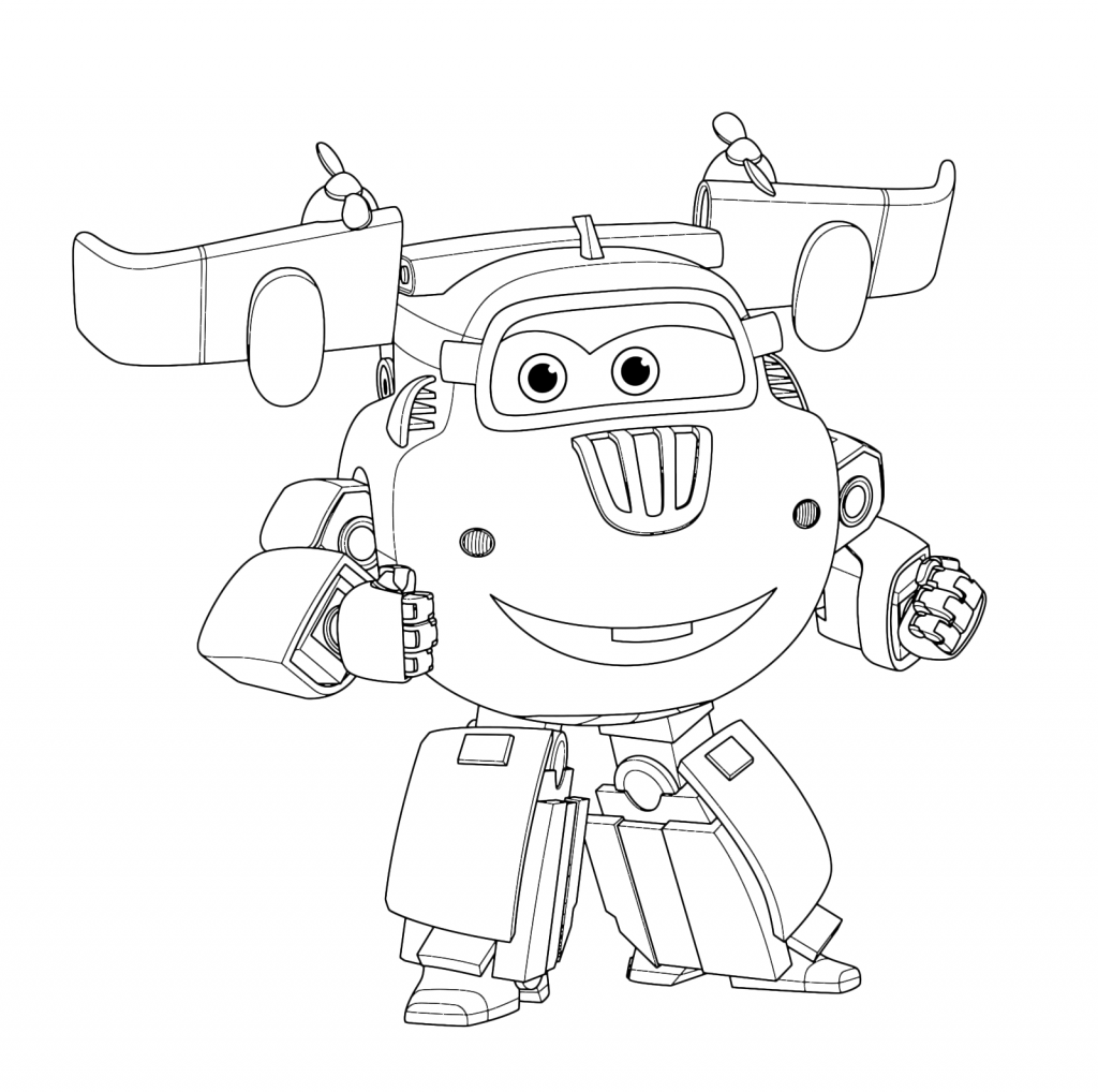Jerome Super Wings Coloring Pages