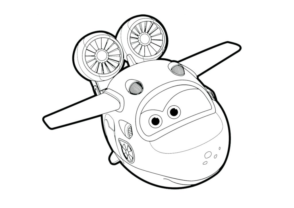 Jet Super Wings Coloring Pages