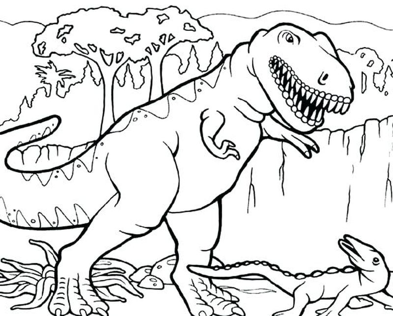 Kbear Dinosaur Coloring Pages