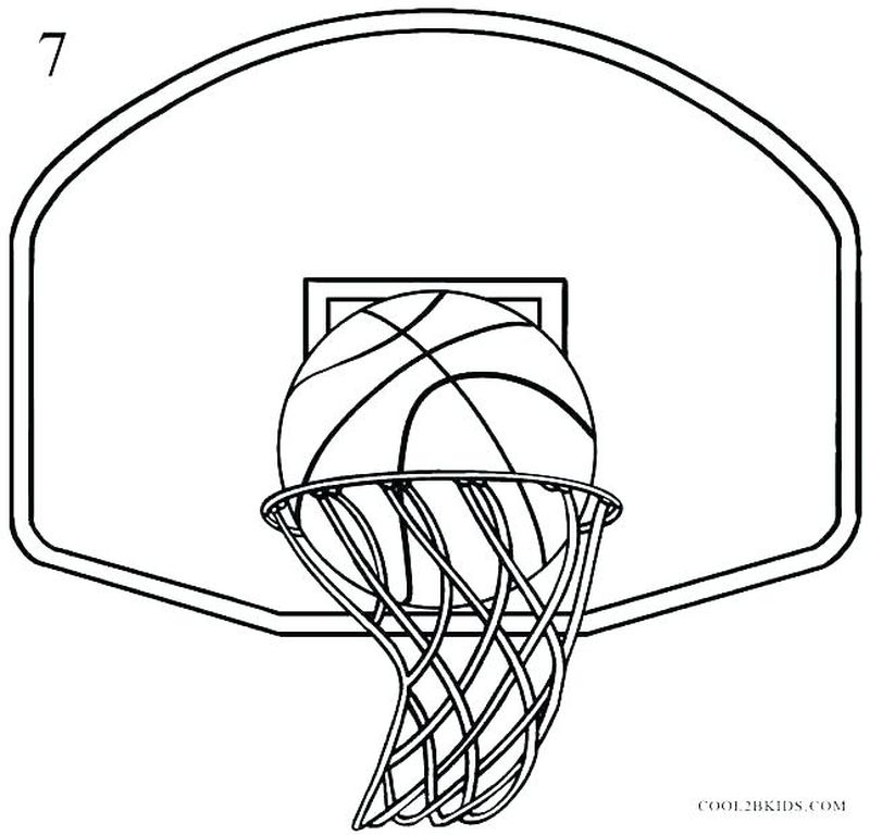 Kids Basketball Coloring Pages
