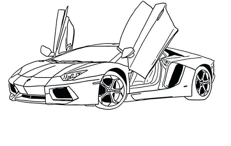 Kids Car Coloring Pages