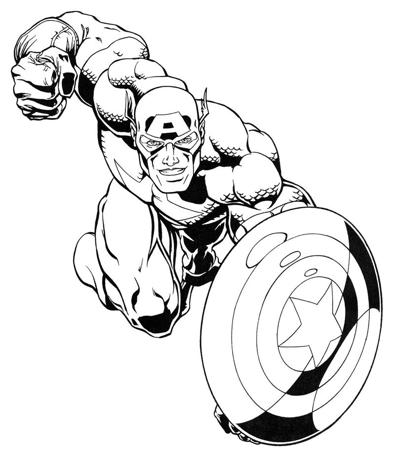 Kids Coloring Pages Captain America Age Of Ultron