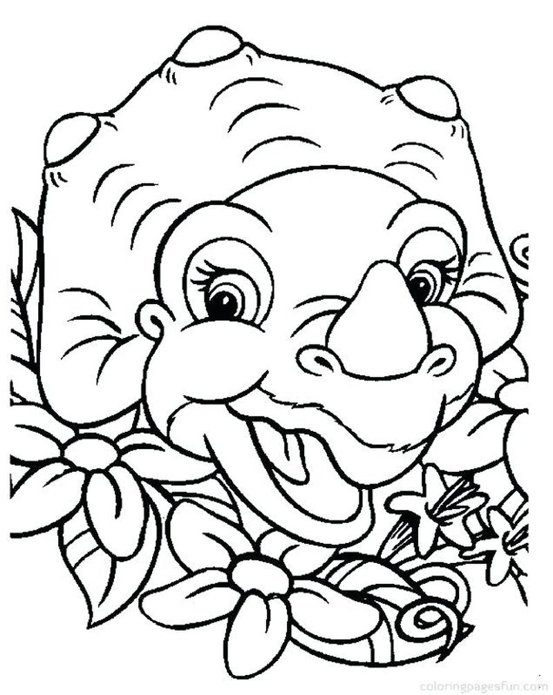 Kids Coloring Pages Dinosaur