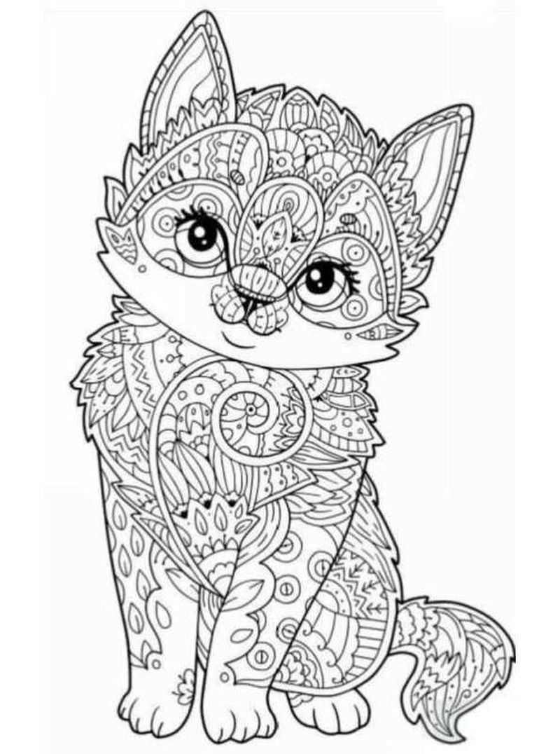Kitten Coloring Pages Free Printable