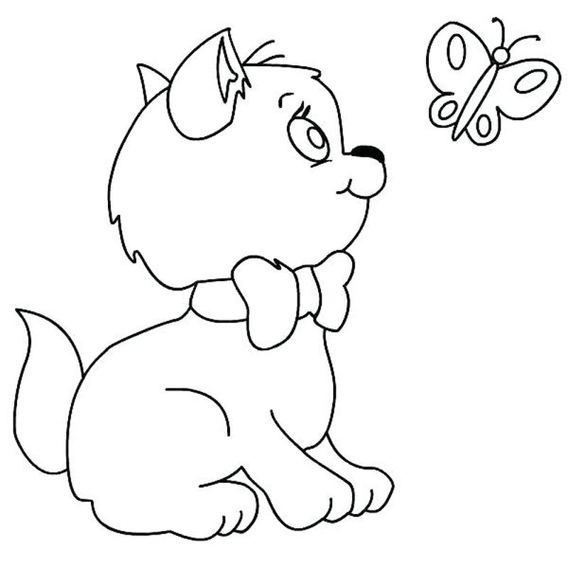 Kitten Coloring Pages Online