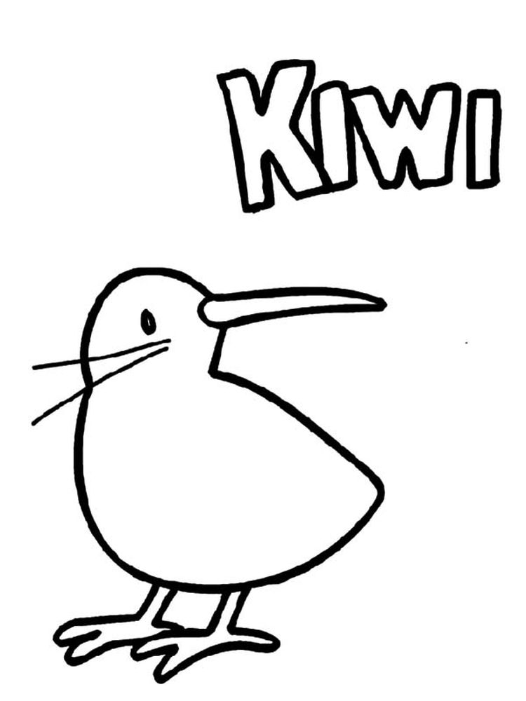 Kiwi coloring pages download free