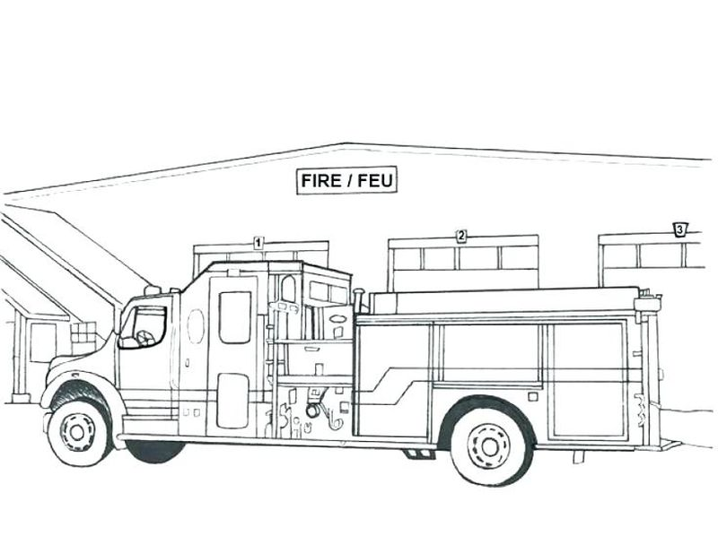Ladder Fire Truck Coloring Pages