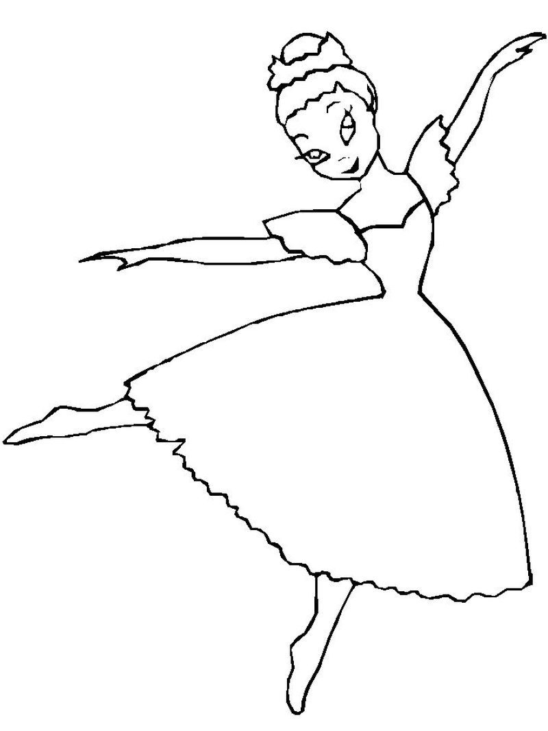 Leap Ballerina Coloring Pages