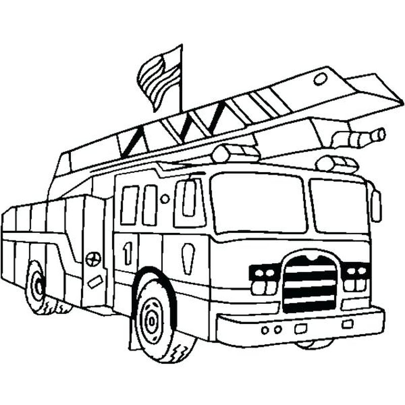 Lego City Fire Truck Coloring Pages