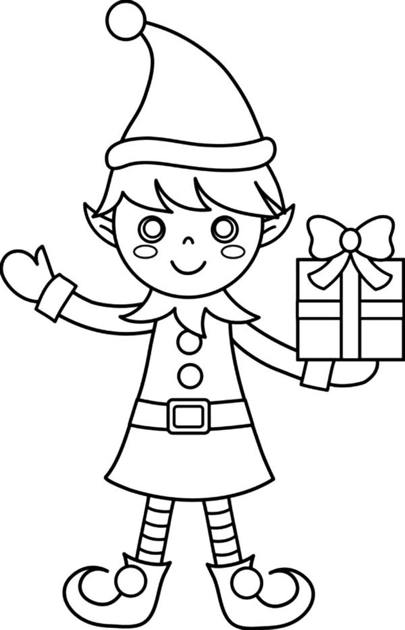Lego Elf Coloring Pages
