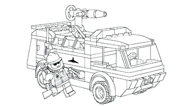 Lego Fireman Coloring Pages